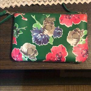 Kate Spade floral wristlet